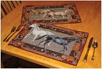 Horse Placemats - Set of (4) Placemat - 2 of each design