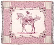 Fairy Tale Pony Tapestry Throw