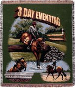 3 Day Eventing Tapestry Throw