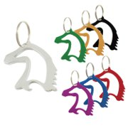 Horse Head Bottle Opener Key Chain in a variety of colors
