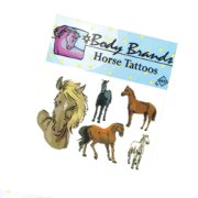 Temporary Horse Tattoo - Flowing Mane