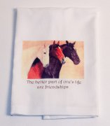 Huck Towels with Horses for kitchen or bath - Ulta Soft