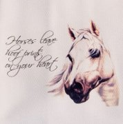 "Beautiful Grey ""Horse leave hoof prints..."" Huck Towel"