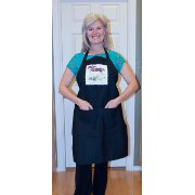 Black Kitchen Apron with Hunter Jumper Horse Artwork
