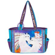 """Ivory Mares"" Medium Tote by Laurel Burch"