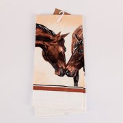 Kissing Horses Terry Kitchen Towel