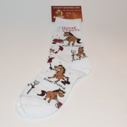 """Horse Chores"" Cute Ladies Sock"