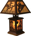 Western Themed Table Lamp