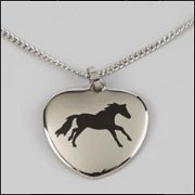 """Lila"" Running Horse, Stainless Steel Necklace & Pendant"