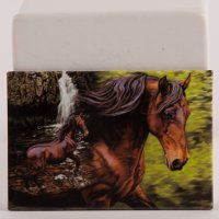 """Horse in Stream"" - Magnet with horses"