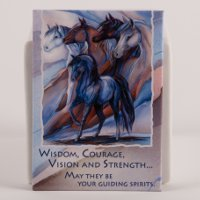 """Five Winds"" horse spirit - Magnet"