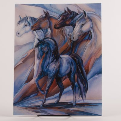 Five Winds Collectors Horse Frame Able Birthday Card
