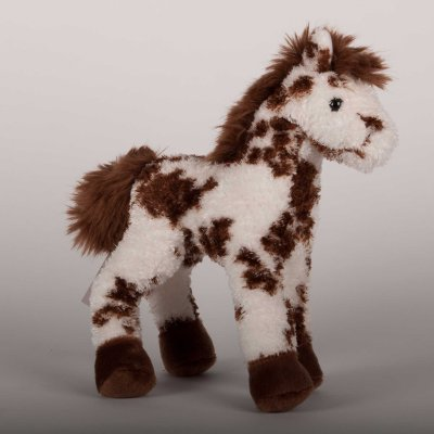 """Stoney"" Brown & White Appalossa Plush Horse - 9"""