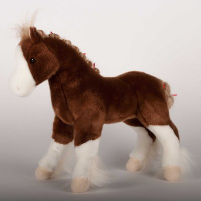 """MacClay"" Clydesdale Plush Stuffed Horse - 15"" Tall"