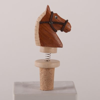 Wooden Horse Head Cork Wine Stopper