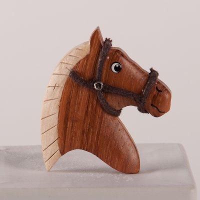 Wooden Horse Head Kitchen Magnet