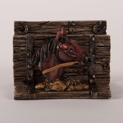 Resin business card holder with horse colourmoves