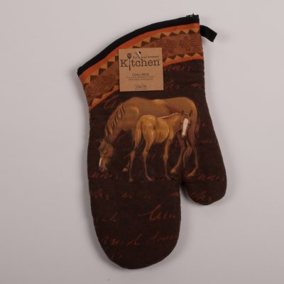 Mare And Foal Oven Mitt Horse Theme Gifts When It Has