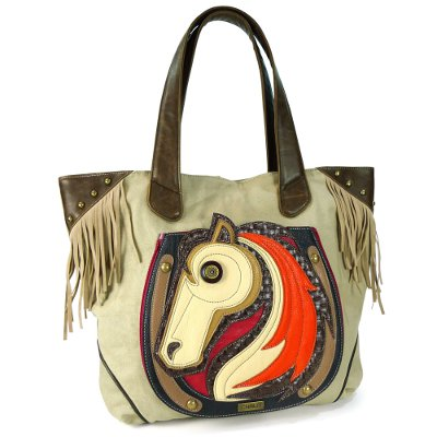 Deluxe Fringe Tote w / HorsePocket that holds a tablet