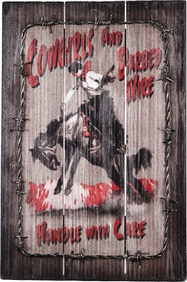 """Cowgirls and Barbed Wire Handle with Care"""
