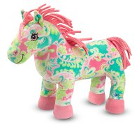 Beeposh Ashley Stuffed Horse in adorable and fun paisley Ages 2+