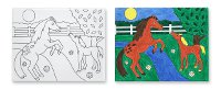 Canvas Creations - Horse Painting Set