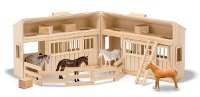 Fold & Go Stable Playset with horses