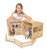 Folding Wooden Horse Stable