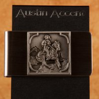 Loping Cowboy with his bridle horse Money Clip