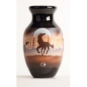 "Bud Vase with ""Horses"" Artwork by James Benally"