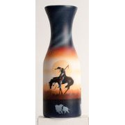"""End of the Trail"" Horse artwork Water Decanter"