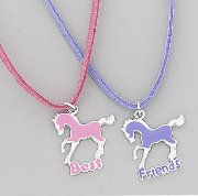 """Best Friends"" Youth Horse Necklace set"