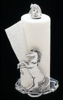 Paper Towel Holder with rearing horse - By Arthur Court