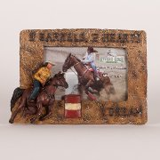 Barrel Racing Photo Frame