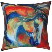 """Mustang West"" Horse theme pillow by Marcia Baldwin"