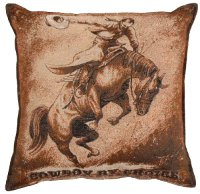 Bronc Rider Tapestry pillow