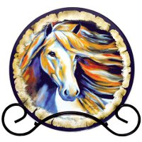 """Wind II"" Horse Collector Plate"