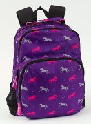 Horse Themed Backpack with Purple and Pink Horses