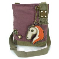 Patch Crossbody Horse Bag Mauve color