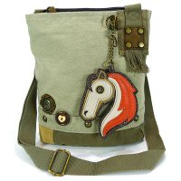 Patch Crossbody Horse Bag - Sand color