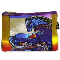 """Aquatic Mares"" Zipper Top Cosmetic Bag"