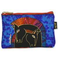 """Embracing Horses"" Zipper Top Cosmetic Bag"