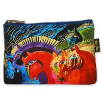 """Wild Horses of Fire"" Zipper Top Cosmetic Bag"