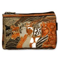 """Moroccan Mares"" Zipper Top Cosmetic Bag"