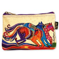 """Mystic Horses"" Zipper Top Cosmetic Bag"
