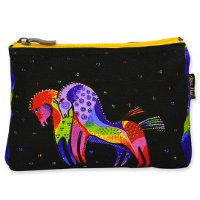 """Mythical Mares"" Zipper Top Cosmetic Bag"