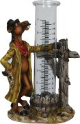 Rain Gage with Cute Standing Horse Figure