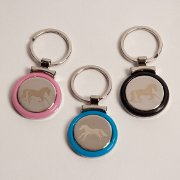 Laser Engraved Running Horse Keychain - Various Colors