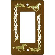 Rustic Horse GFI and Electrical Switch Cover