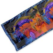 """Wild Horses of Fire"" Silk Scarf with artwork by Laurel Burch"